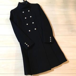 UNIVERVAL MUSE - 美品 ユニバーバル ミューズ  スタンド カラー コート 黒 ブラック 日本製
