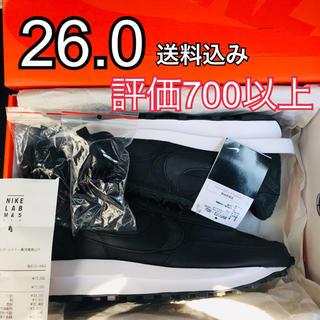 ナイキ(NIKE)の26.0 Nike Sacai LDV Waffle black 黒 ワッフル(スニーカー)