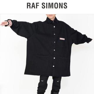 RAF SIMONS - RAF SIMONS 20ss ビッグフィットデニムシャツ 黒 Lサイズ