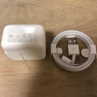アップル(Apple)の☆美品☆Apple 正規品 iPhone 10w パワーアダプタ+充電ケーブル(バッテリー/充電器)