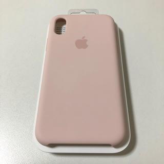 アップル(Apple)のapple純正シリコンケース iPhoneXs  ピンクサンド(iPhoneケース)