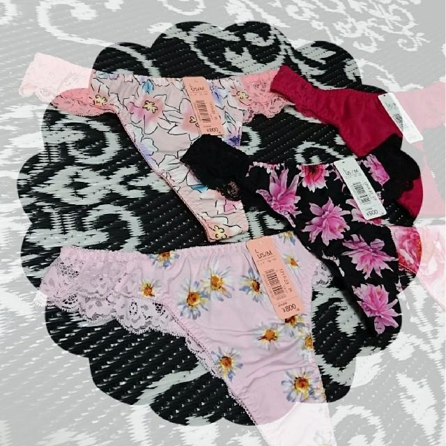 aimer feel(エメフィール)のエメフィール Tバック ショーツ 花柄 L 5枚セット PINK系 レディースの下着/アンダーウェア(ショーツ)の商品写真