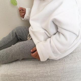 シンプルトレーナー 白 黒 韓国子供服