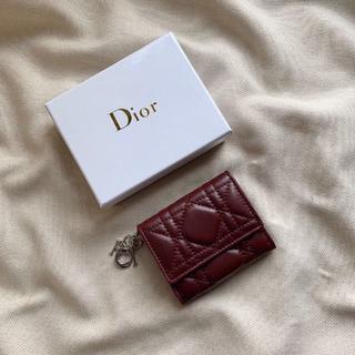 クリスチャンディオール(Christian Dior)のDior レディ ディオール lady dior ミニ財布(財布)