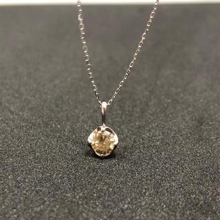ミツコシ(三越)の【早い者勝ち!】ブラウンダイヤ ネックレス 0.3ct K10WG pt900(ネックレス)