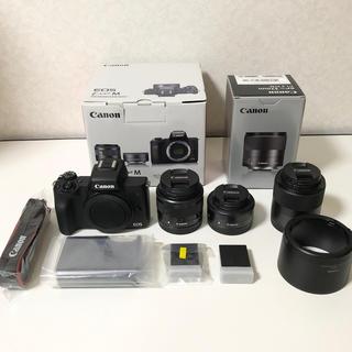 キヤノン(Canon)のCanon EOS Kiss M  EFM 32mm セット *ひま様専用(ミラーレス一眼)