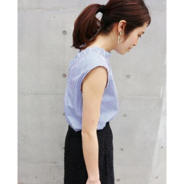 IENA(イエナ)のIENA 先染めフリルカラートップス レディースのトップス(シャツ/ブラウス(半袖/袖なし))の商品写真