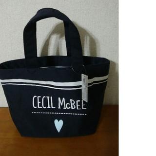 CECIL McBEE - セシルマクビー 手提げトートバッグ ネイビー
