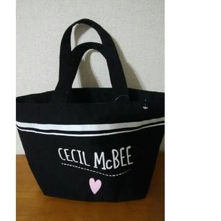 CECIL McBEE - セシルマクビー 手提げトートバッグ ブラック