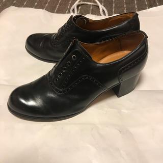 vintage ヒールブーツ ヒールレザーシューズ 革靴 ビンテージ 本革