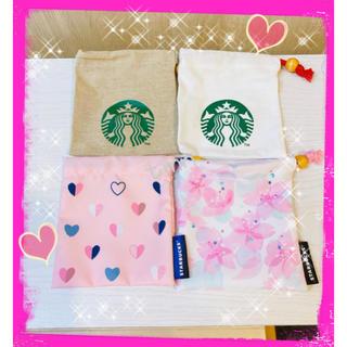 Starbucks Coffee - レア❗️スターバックス☆ミニ巾着☆4点セット