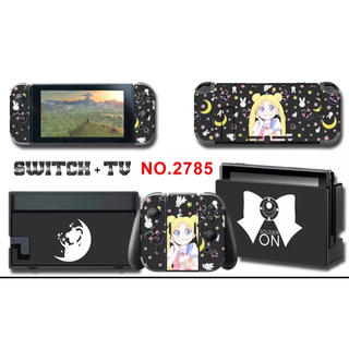 ニンテンドースイッチ(Nintendo Switch)のスキンシール・Switch スイッチ セーラームーン あつまれどうぶつの森 ★(携帯用ゲームソフト)
