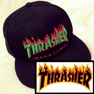 THRASHER - ◌⑅⃝♡⃝THRASHER キャップ ファイヤーパターン♡⃝⑅⃝◌