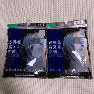 しまむら - しまむら ドライストレッチシャツ カラー白/黒 サイズL 2枚組