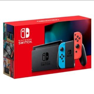 ニンテンドースイッチ(Nintendo Switch)の【新品未開封・送料込み】 任天堂 新型 switch 本体 ブルー&レッド(家庭用ゲーム機本体)