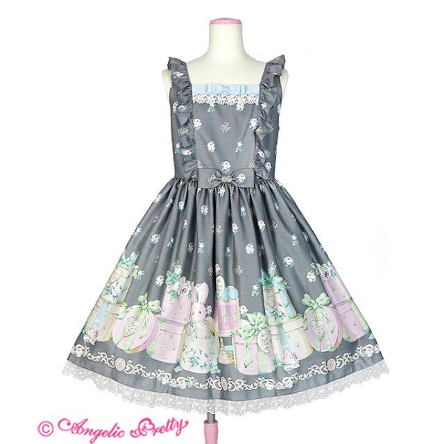 Angelic Pretty(アンジェリックプリティー)のAngelic pretty Un Birthdayジャンパースカート レディースのワンピース(ひざ丈ワンピース)の商品写真