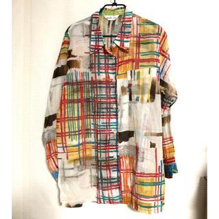 Jieda - 古着屋購入! お洒落なアート柄デザインシャツ
