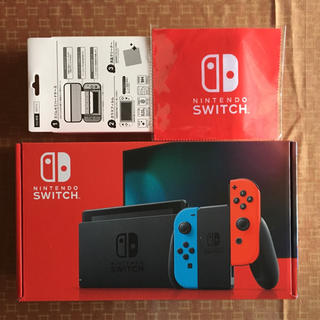 Nintendo Switch - 新型 新品 保証有 ニンテンドー スイッチ ネオンブルー + アクセサリーセット