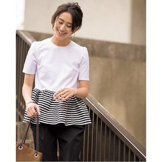 ボーダーズアットバルコニー ボーダーフリルT(Tシャツ(半袖/袖なし))