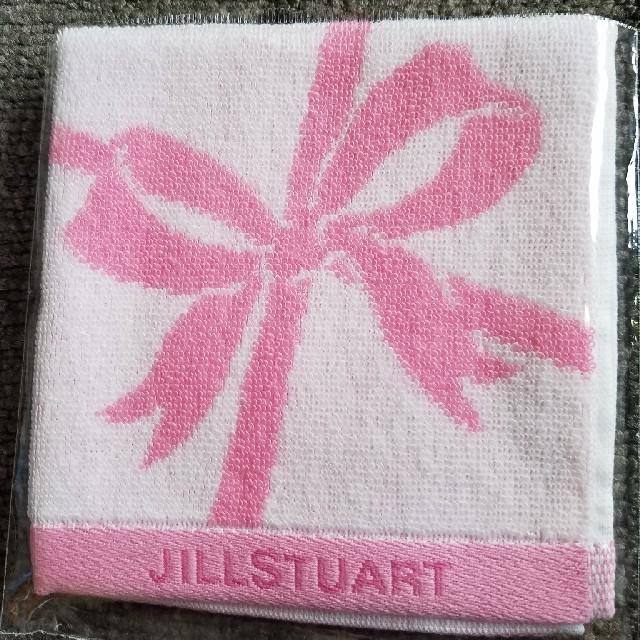 JILLSTUART(ジルスチュアート)のジルスチュアート❤️ノベルティ❤️リボンタオルハンカチ❤️ レディースのファッション小物(ハンカチ)の商品写真