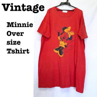 サンタモニカ(Santa Monica)の美品【 vintage 】 90s 超特大Tシャツ Tシャツワンピ ミニーマウス(ひざ丈ワンピース)