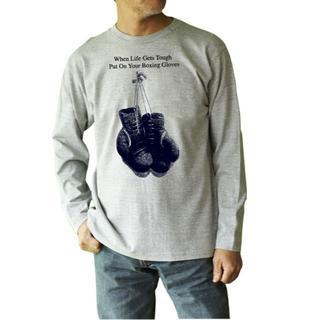 02 FIGHETER (オツファイター)ボクシンググローブ 長袖Tシャツ(Tシャツ/カットソー(七分/長袖))