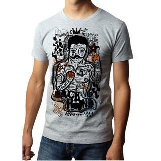 02☆FIGHETER (オツ☆ファイター)ボクシング 半袖Tシャツ(Tシャツ/カットソー(半袖/袖なし))