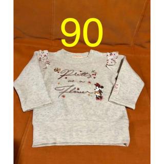 オリーブデオリーブ(OLIVEdesOLIVE)の90 裏シャギー ミニー 肩フリル トレーナー(Tシャツ/カットソー)