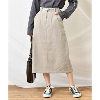 ナイスクラップ(NICE CLAUP)のデニムタイトスカート(ロングスカート)
