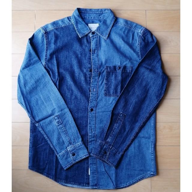American Eagle(アメリカンイーグル)の未使用品 デニムシャツ アメリカンイーグル グラデーションデニムシャツ M L メンズのトップス(シャツ)の商品写真