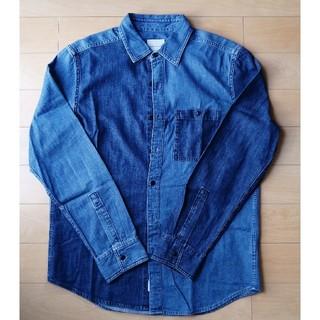 American Eagle - 未使用品 デニムシャツ アメリカンイーグル グラデーションデニムシャツ M L