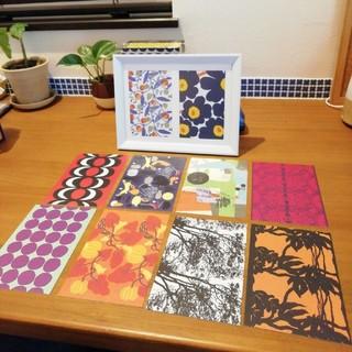 マリメッコ(marimekko)のマリメッコ ポストカード 10枚 秋 おまけ付き(カード/レター/ラッピング)