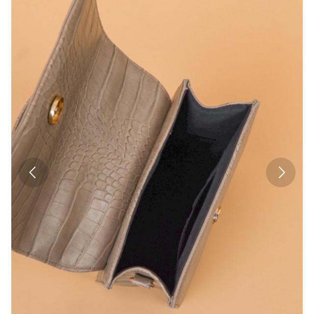 who's who Chico(フーズフーチコ)の型押しスクエアハンドバッグ ブラウン レディースのバッグ(ショルダーバッグ)の商品写真