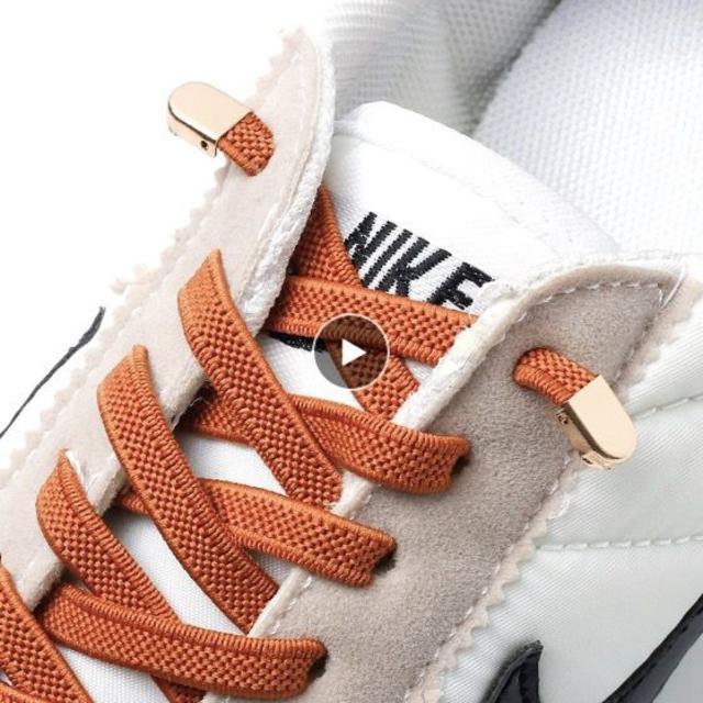 即配送 結ばない靴紐 ベルト リーシュ ゴム製 ストッパー1つおまけ スニーカー メンズの靴/シューズ(スニーカー)の商品写真
