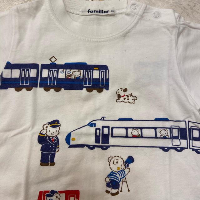 familiar(ファミリア)のファミリア プリント おはなし Tシャツ 90 電車 乗り物 キッズ/ベビー/マタニティのキッズ服男の子用(90cm~)(Tシャツ/カットソー)の商品写真