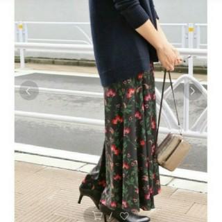 IENA - イエナ♡フラワープリントパネルスカート 34