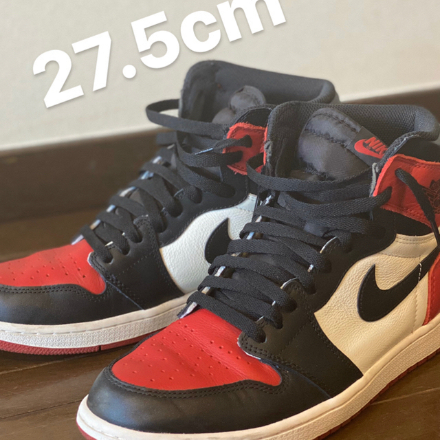 NIKE(ナイキ)のbred toe JORDAN1 27.5cm メンズの靴/シューズ(スニーカー)の商品写真