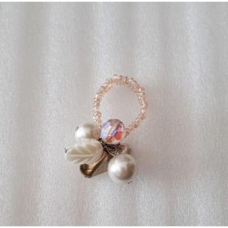 花ビーズリング ピンク(リング(指輪))