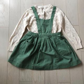 Caramel baby&child  - caramel baby & child エプロンワンピース 4y