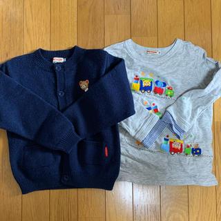 ミキハウス(mikihouse)のMIKIHOUSE プッチー カーディガン 長袖 トップス 110(Tシャツ/カットソー)