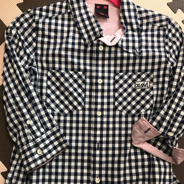 X-girl(エックスガール)のX-girl チェックシャツ レディースのトップス(シャツ/ブラウス(長袖/七分))の商品写真
