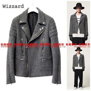 ウィザード(Wizzard)の美品 Wizzard WOOL RIDERS BLOUSON(ライダースジャケット)