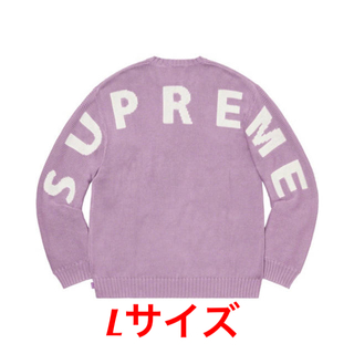 Supreme - Lサイズ supreme back logo sweater lilac