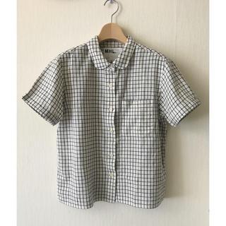 MARGARET HOWELL - 【MHL】丸襟 半袖 シャツ チェックシャツ