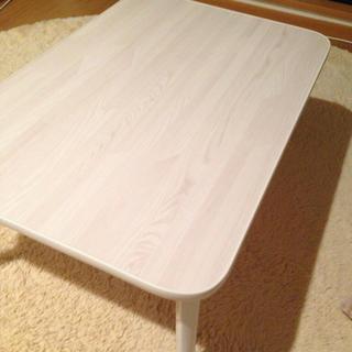 白色折り畳みローテーブル(ローテーブル)