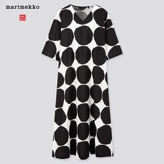 marimekko - マリメッコ ユニクロ ドット Vネック ワンピース