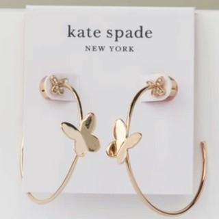 kate spade new york - 【新品】kate spade ケイトスペード ピアス フープ 蝶