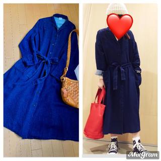 l'atelier du savon - ¥22000 インディゴガーゼ羽織ワンピ コート