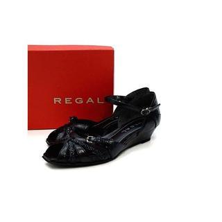 リーガル(REGAL)の未使用品 リーガル レザー ストラップ ローヒール サンダル 22.5(サンダル)