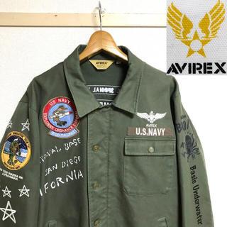 AVIREX - 美品!AVIREX アヴィレックス U.S.NAVY A-2 デッキ ジャケット